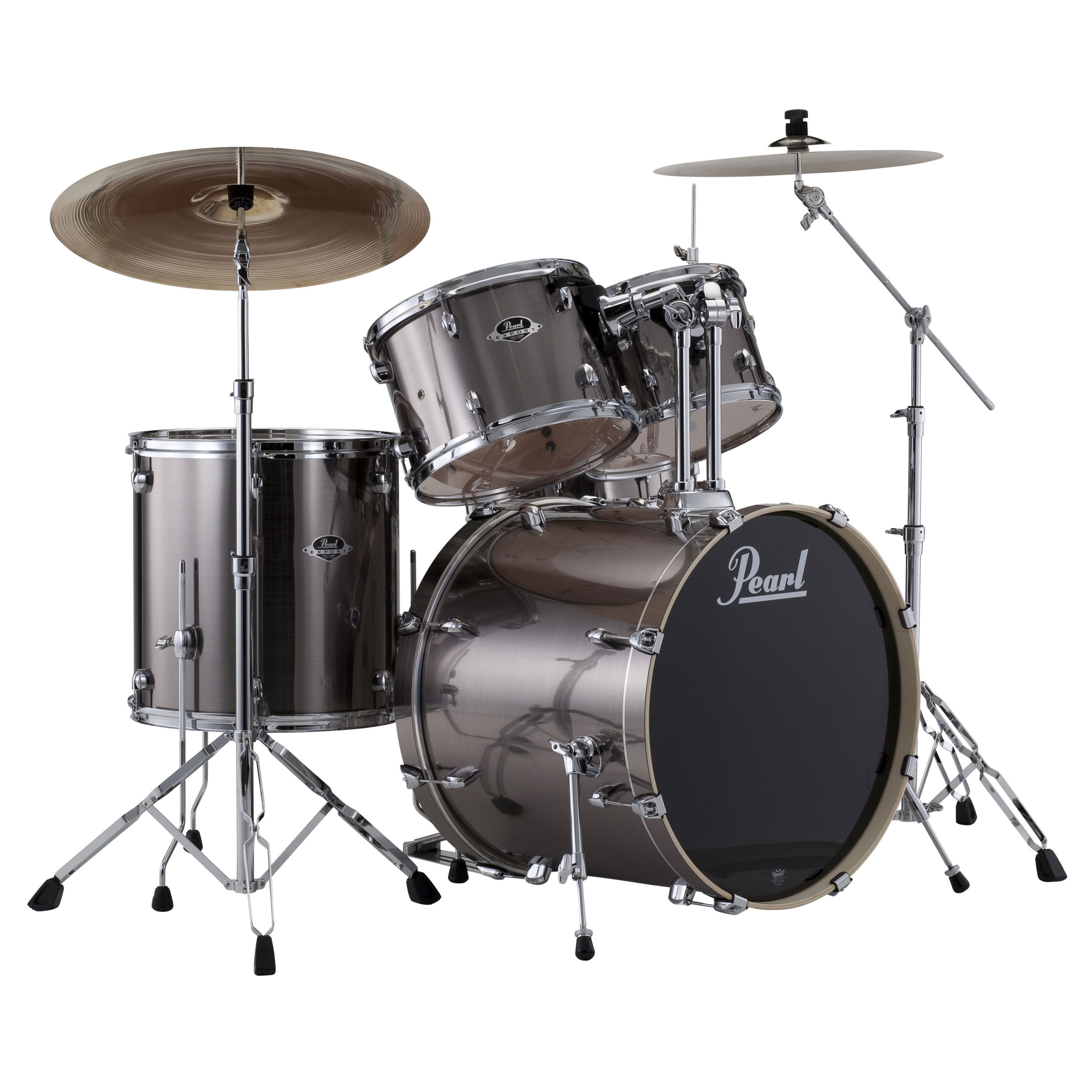 pearl exx export 5 piece drum set with hardware 22 bass 14 snare 10 12 16 toms exx725s. Black Bedroom Furniture Sets. Home Design Ideas