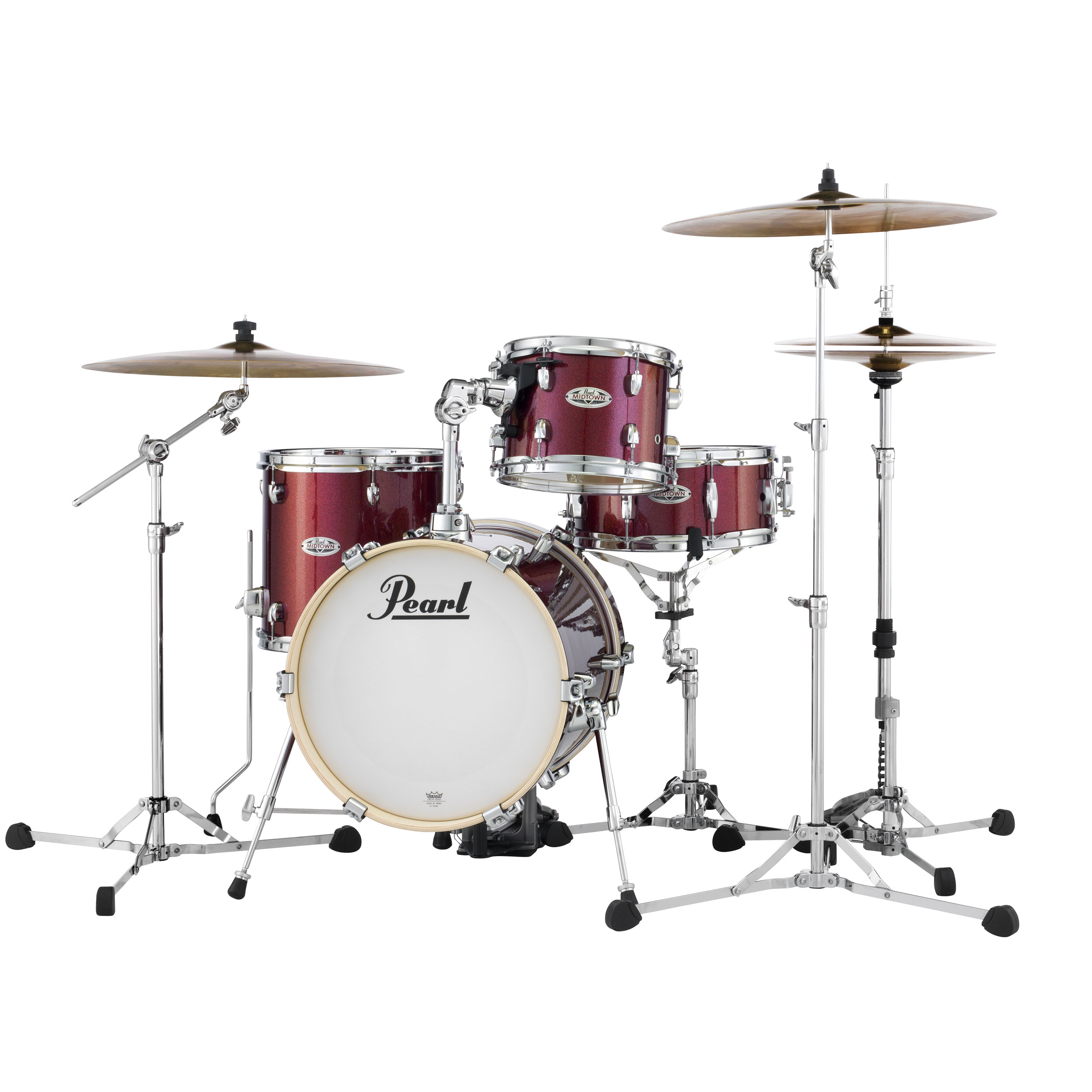 "Pearl Midtown 4-Piece Drum Set Shell Pack (16"" Bass, 10/13"" Toms, 13"" Snare) with Bags"