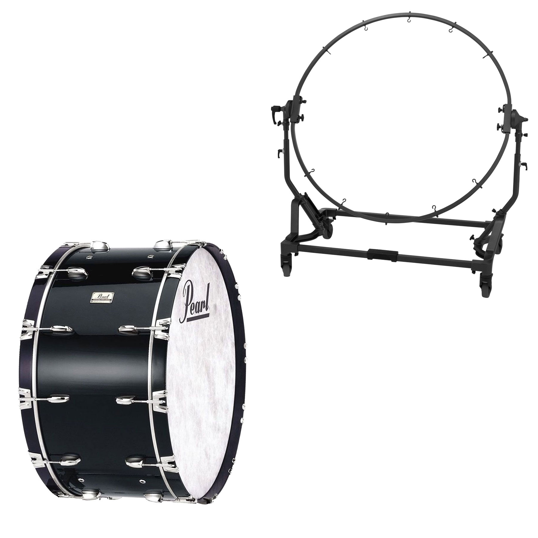 "Pearl 36"" (Diameter) x 16"" (Deep) Concert Series Kapur Concert Bass Drum with STBD Stand"
