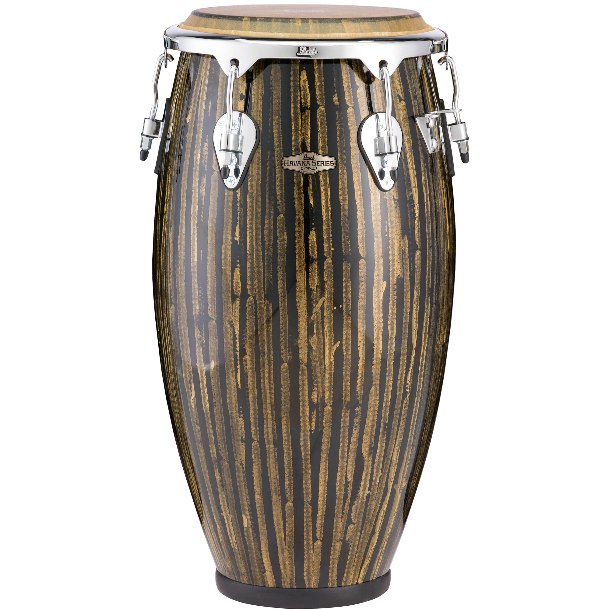"Pearl 12"" Havana Series Fiberglass Tumba Conga in Liquid Gold with Chrome Hardware"