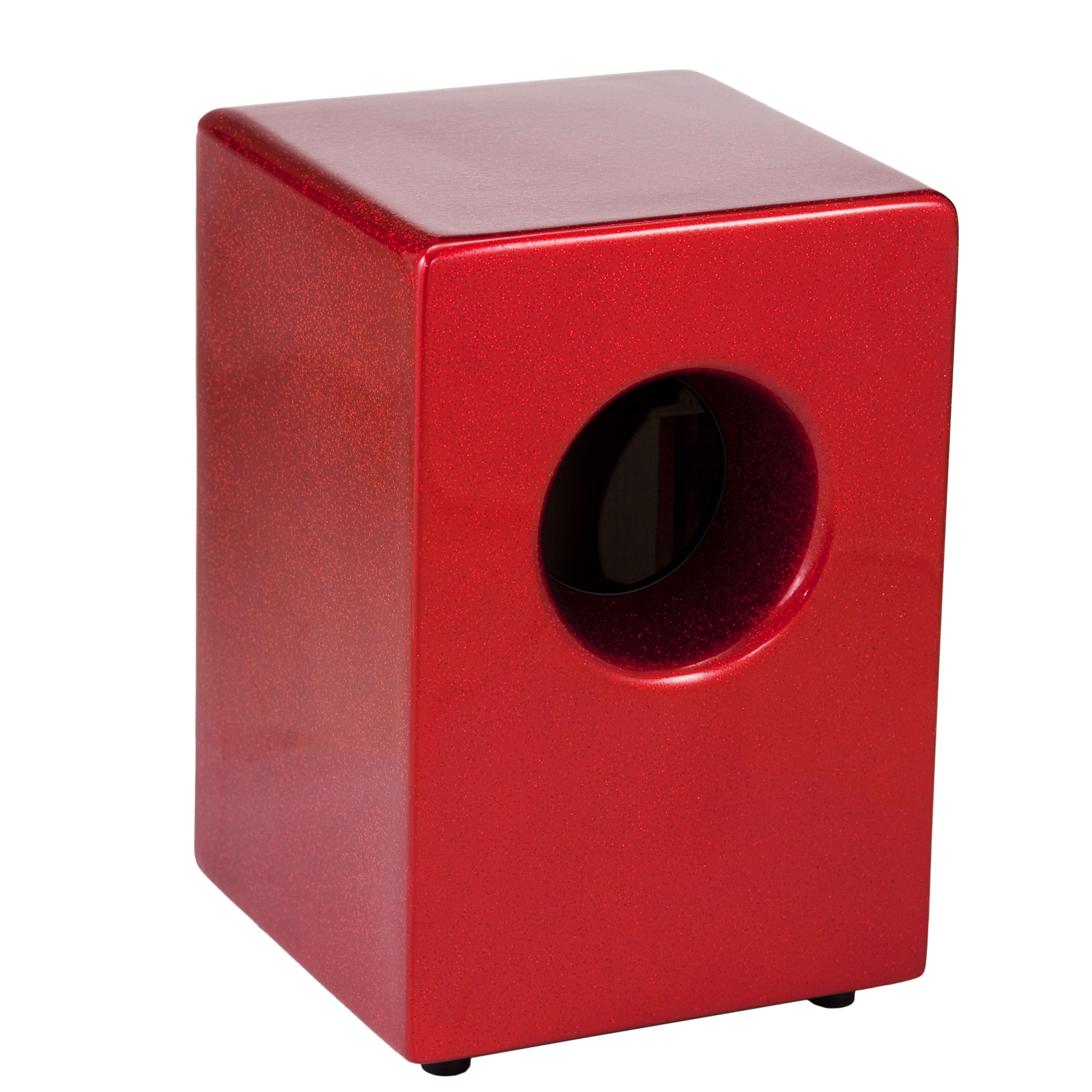Pearl Fiberglass Boom Box Cajon in Red Sparkle Finish