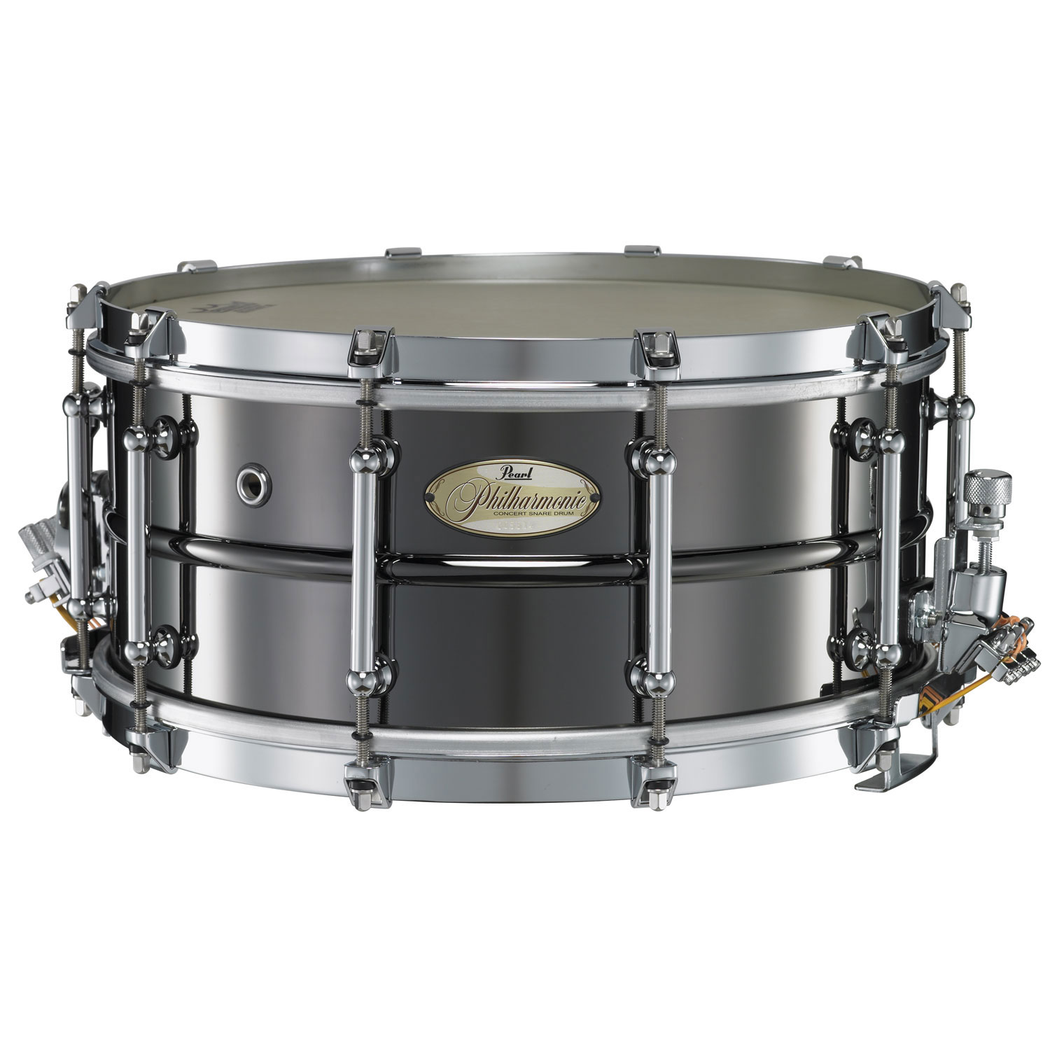"""Pearl 14"""" x 6.5"""" Philharmonic 1.5mm Beaded Brass Concert Snare Drum"""