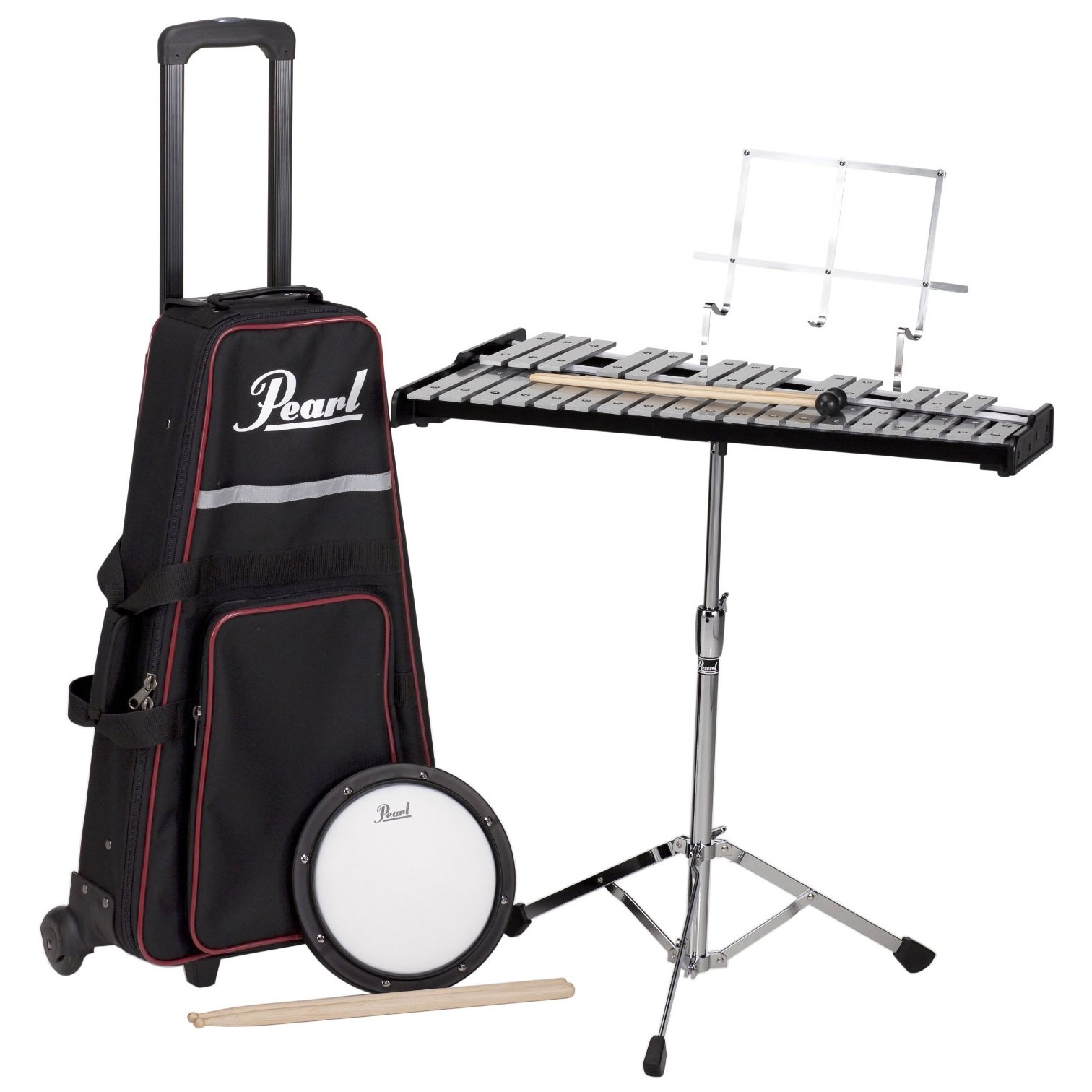Pearl Beginner Percussion Kit with Pull Along Cart