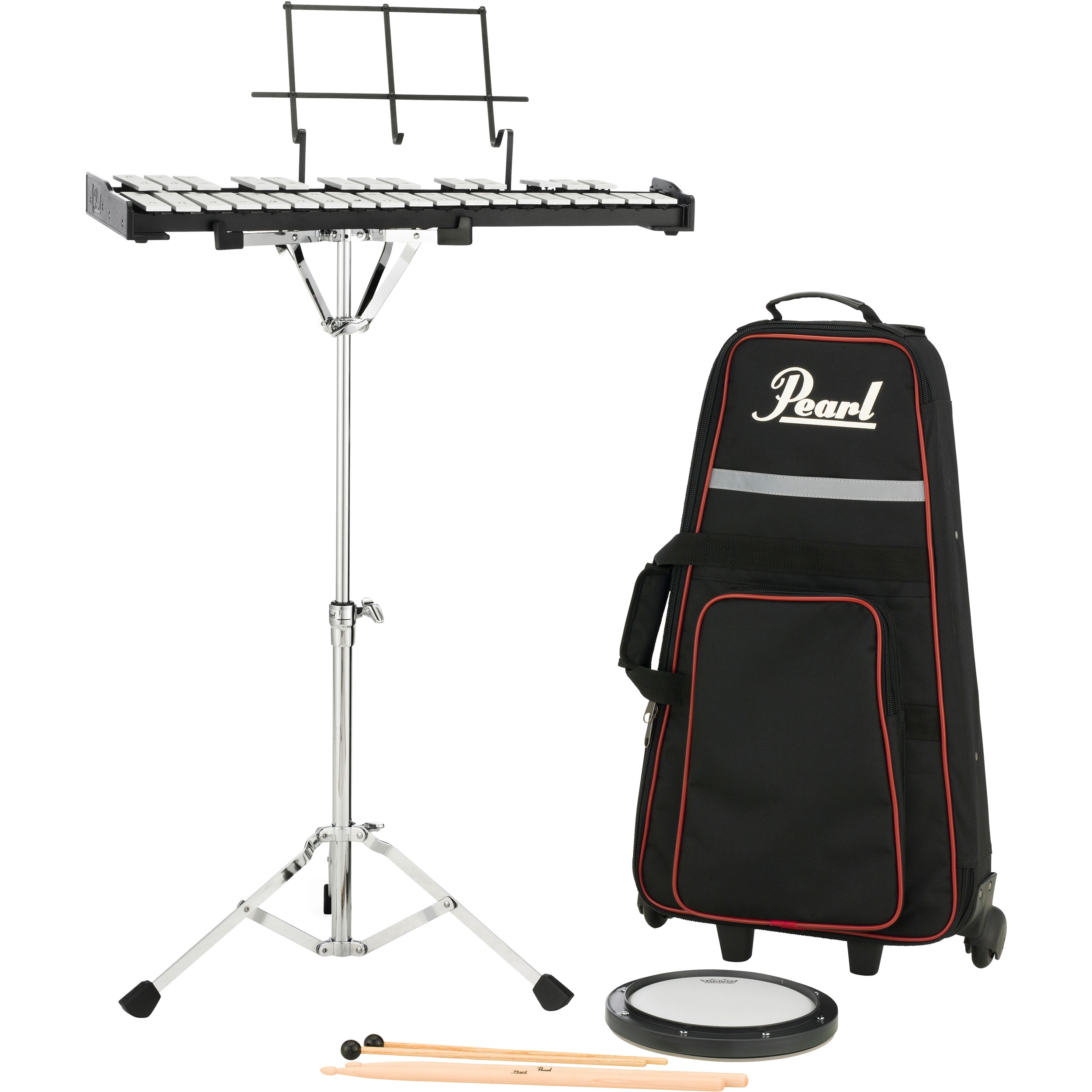 Pearl student percussion bell kit with rolling bag pk910c for Yamaha student bell kit with backpack and rolling cart