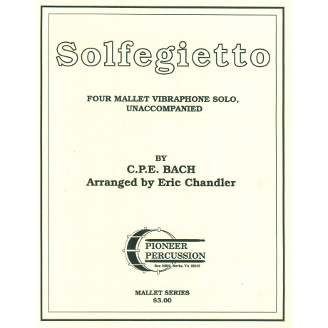 Solfegietto by C.P.E. Bach arr. by Eric Chandler