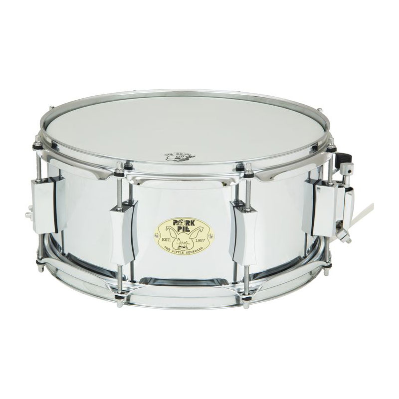 "Pork Pie 6"" x 13"" Little Squealer Steel Snare Drum"