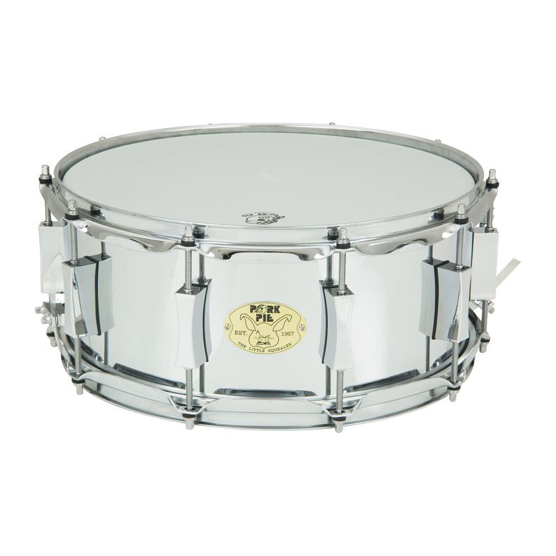 "Pork Pie 6"" x 14"" Little Squealer Steel Snare Drum"