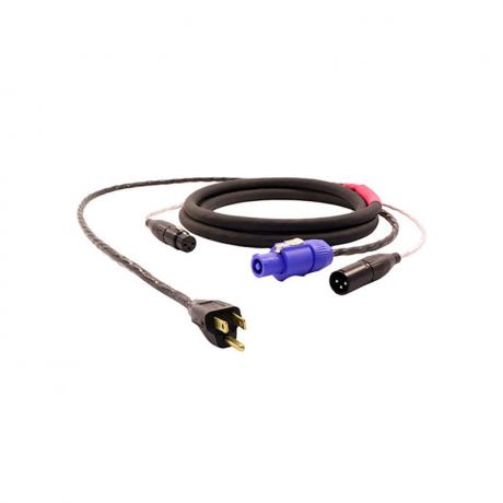 Pro Co 75' Twin AC (Edison to PowerCON Blue) and Audio (XLR Female to XLR Male) Cable