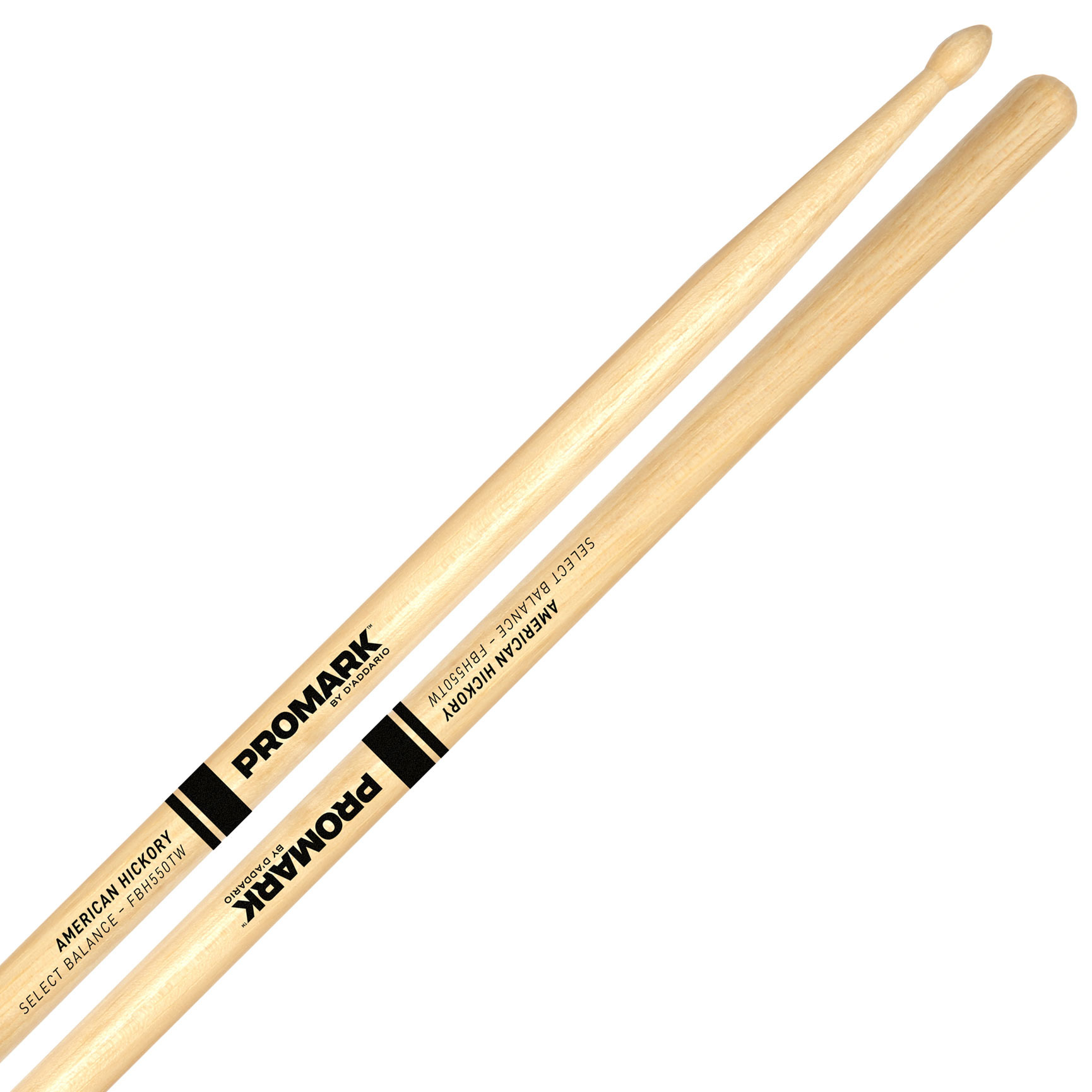 "Promark Forward 5A (.550"") Hickory Drumsticks with Teardrop Wood Tips"