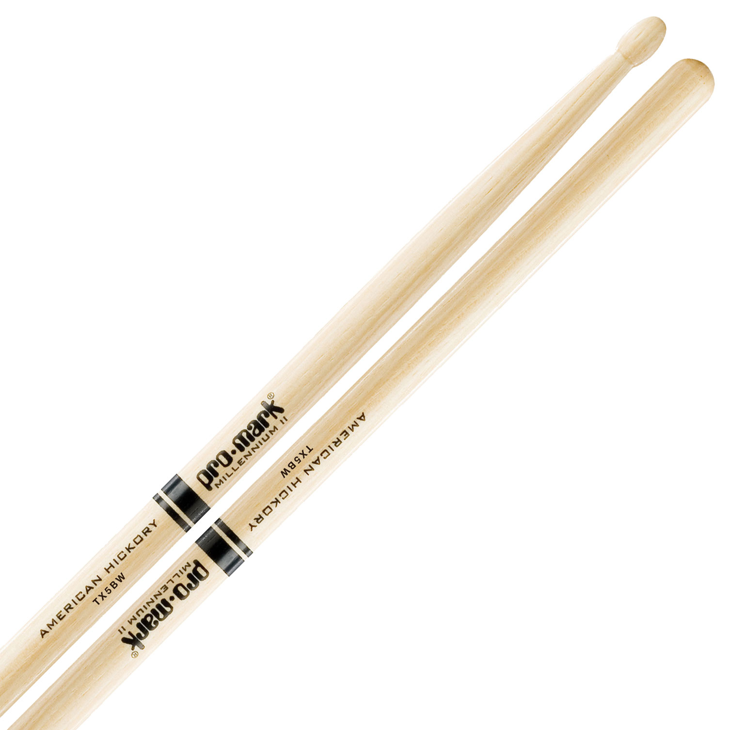 Promark American Hickory 5B Wood Tip Drumsticks