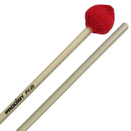 Prodigy Hard Cord Vibraphone Mallets with Rattan Handles