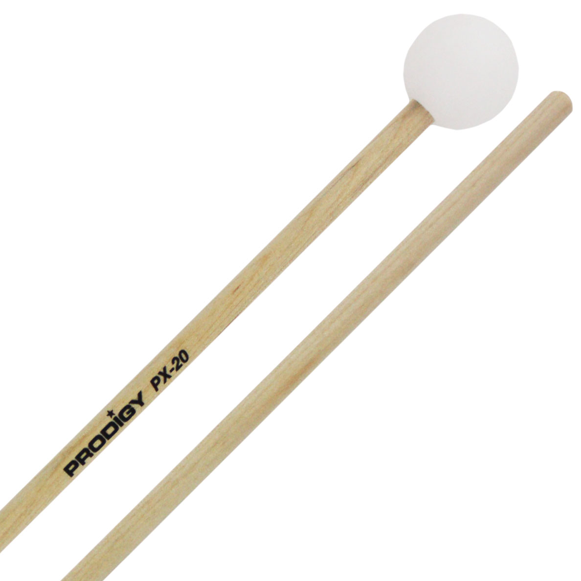 Prodigy Hard Poly Ball Xylophone/Bell Mallets with Birch Handles