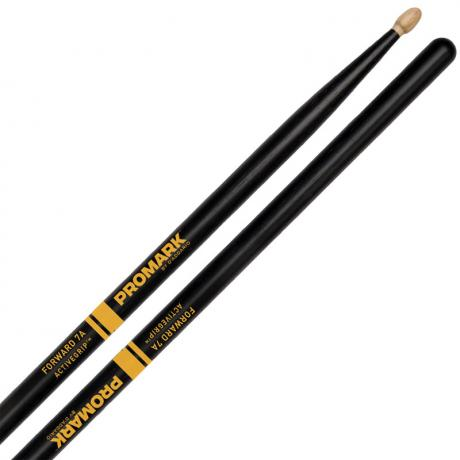 Promark Forward 7A ActiveGrip Drum Sticks with Acorn Tips