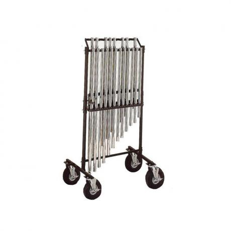 Pyle Chromatic Chime Rack with 8'' Flat Free Tires