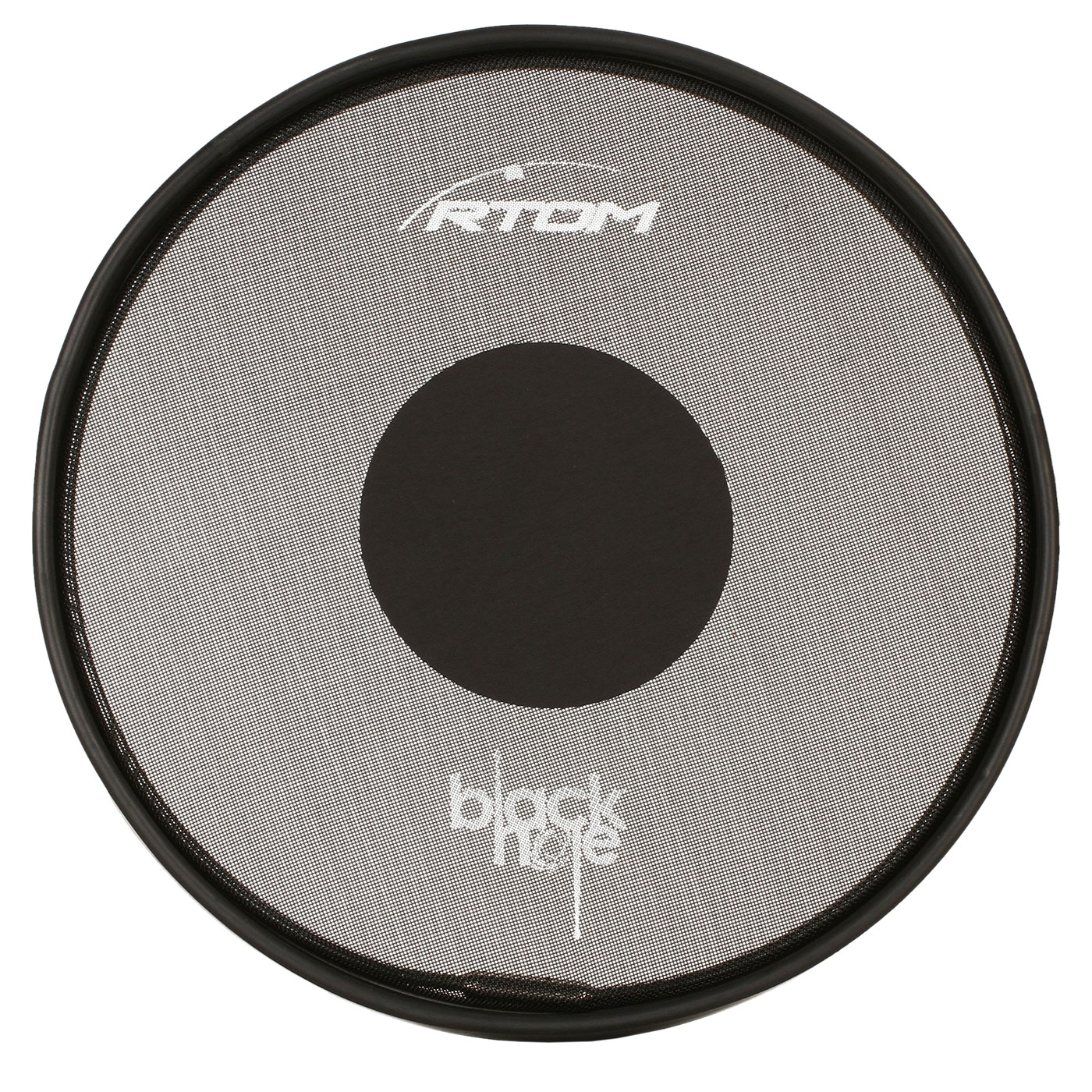 "RTOM 14"" Black Hole Snap-On Practice Pad with Tuneable Mesh Head"