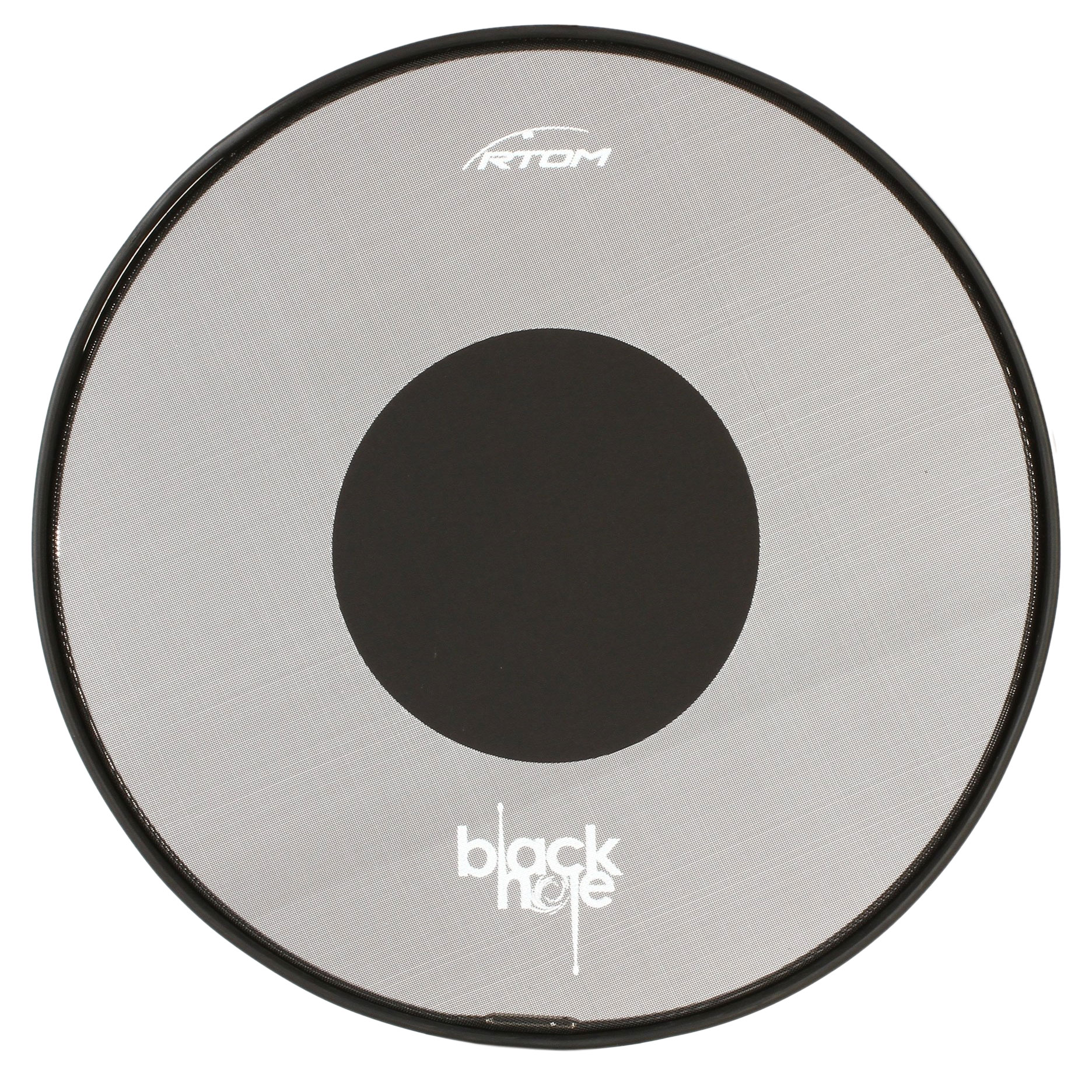 "RTOM 24"" Black Hole Snap-On Bass Drum Practice Pad with Tuneable Mesh Head"