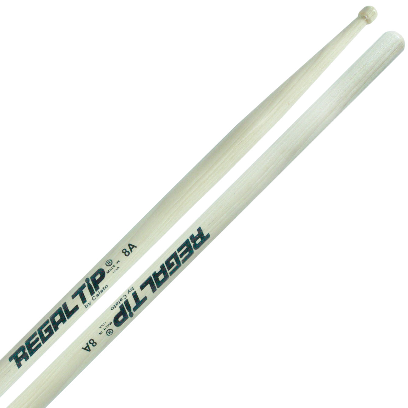 Regal Tip Classic Series Hickory 8A Wood Tip Drumsticks