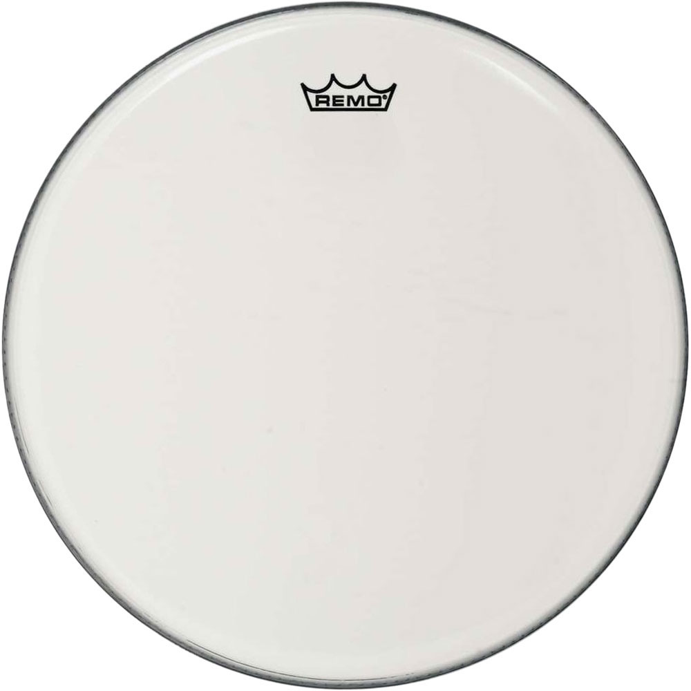"Remo 16"" Emperor Smooth White Crimplock Marching Bass Drum Head"