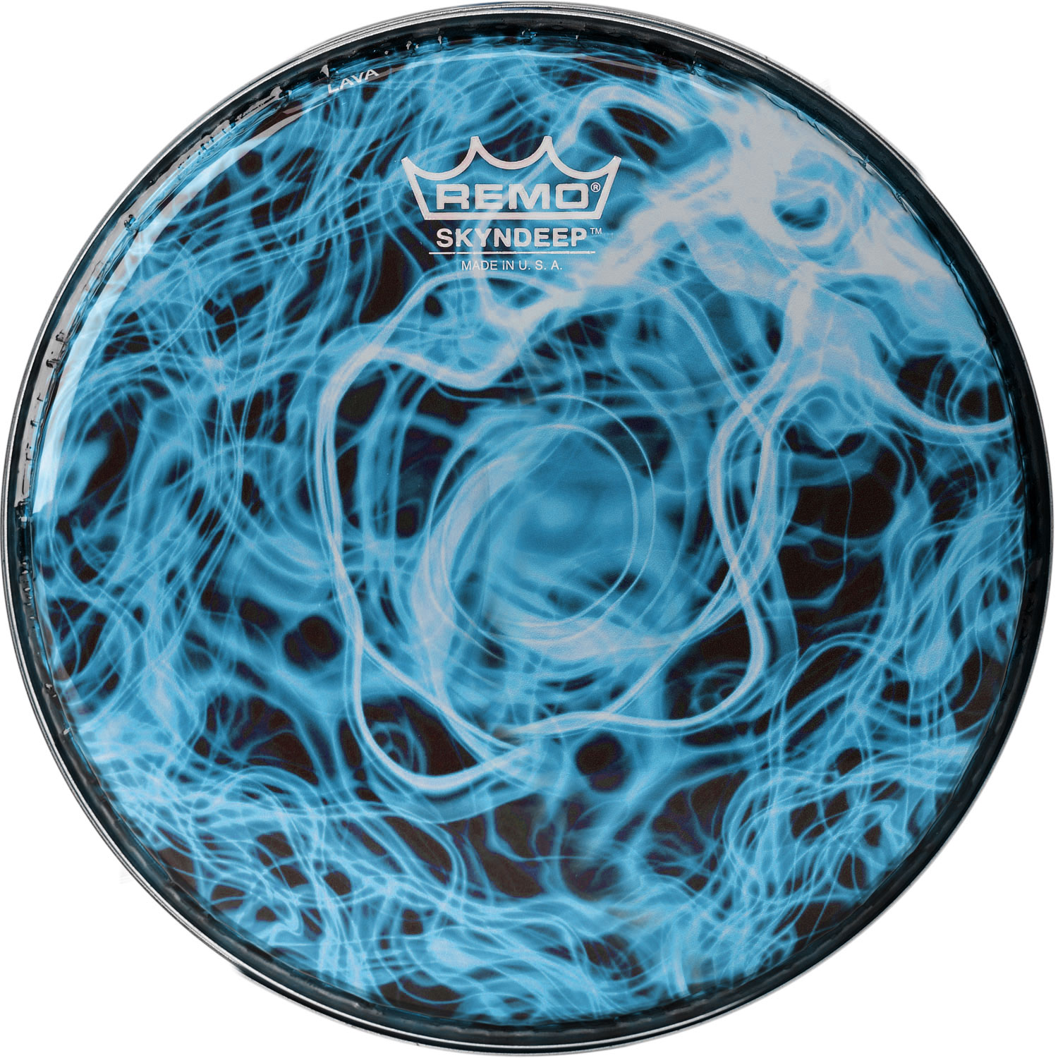 "Remo 10"" R-Series Skyndeep Doumbek Drum Head with Turquoise Wave Graphic"