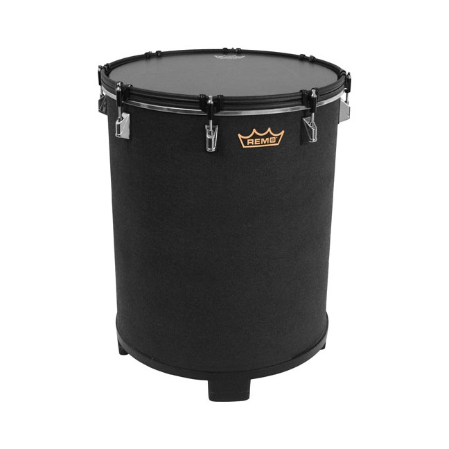 "Remo 14"" x 21"" Bahia Bass Drum Black Earth Fabric Finish"