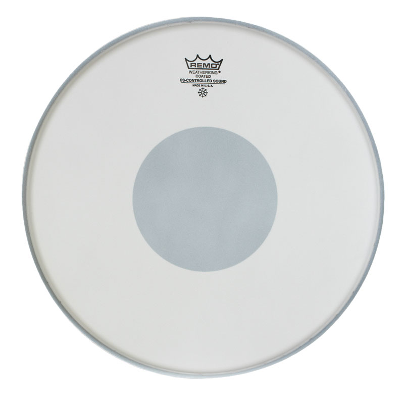"Remo 14"" Controlled Sound Coated Drum Head with Black Dot"