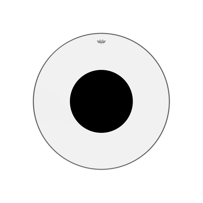 "Remo 40"" Controlled Sound Clear Bass Drum Head with Black Dot"