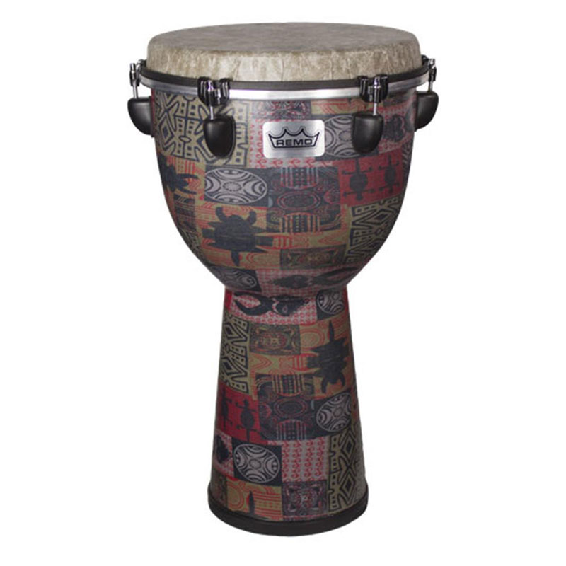 "Remo 21"" x 12"" Apex Djembe in Red Kinte"