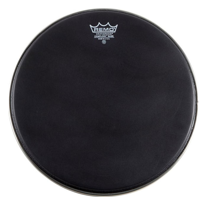 "Remo 14"" Ambassador Ebony Crimplock Marching Bass Drum Head"