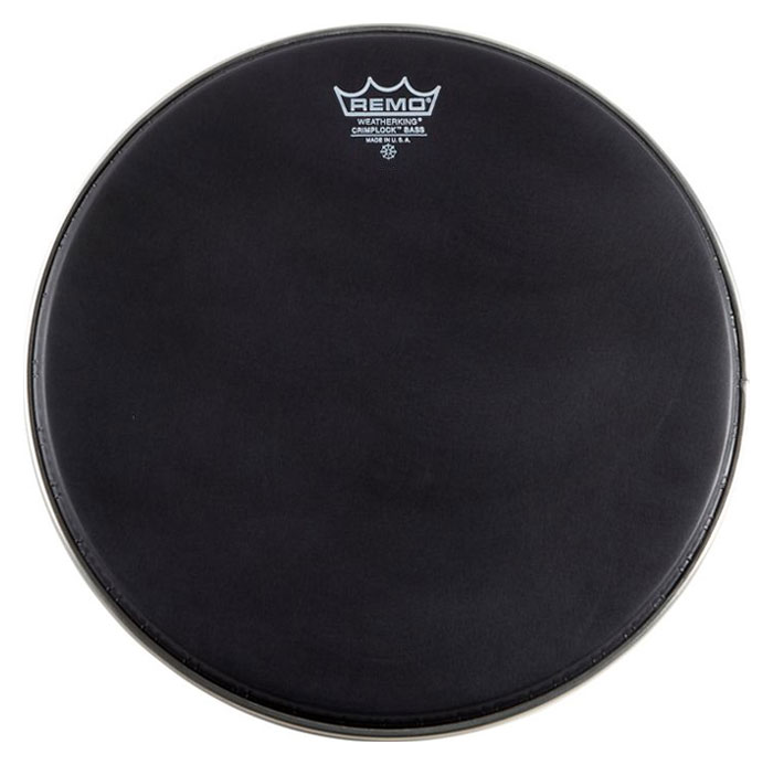 "Remo 16"" Ambassador Ebony Crimplock Marching Bass Drum Head"