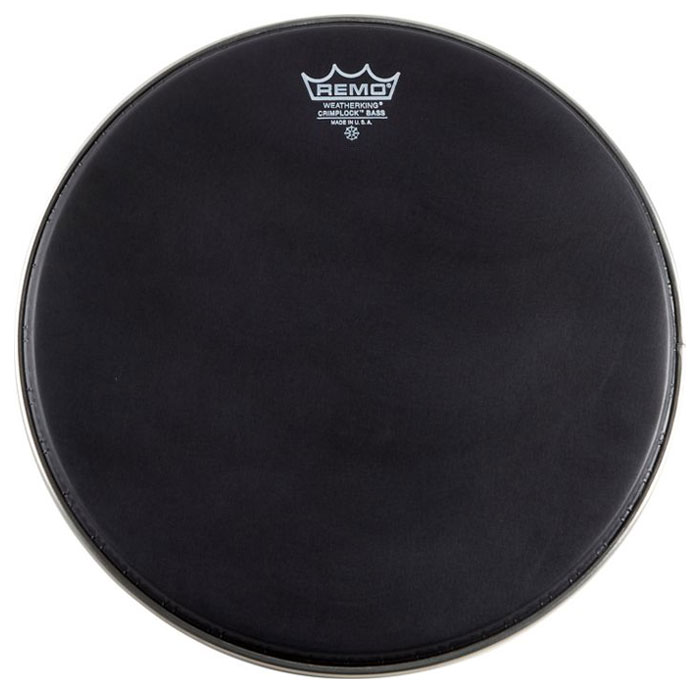 "Remo 18"" Ambassador Ebony Crimplock Marching Bass Drum Head"