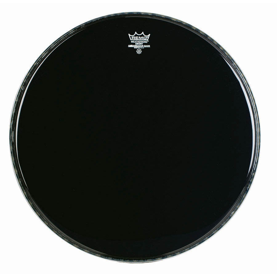 "Remo 22"" Ambassador Ebony Crimplock Marching Bass Drum Head"