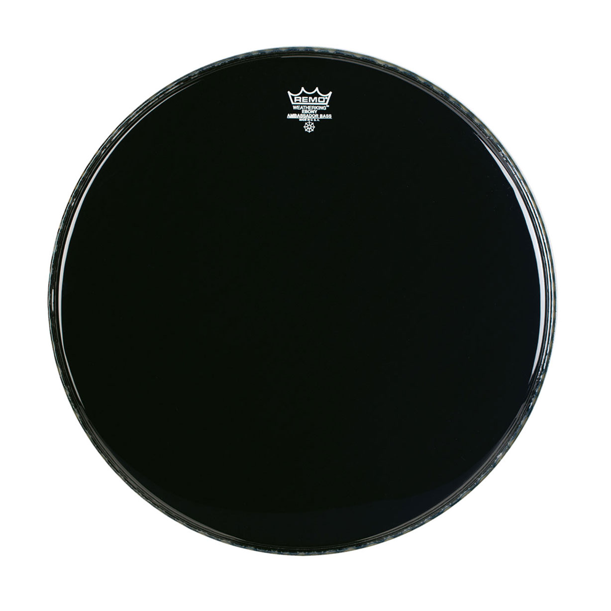 "Remo 24"" Ambassador Ebony Crimplock Marching Bass Drum Head"