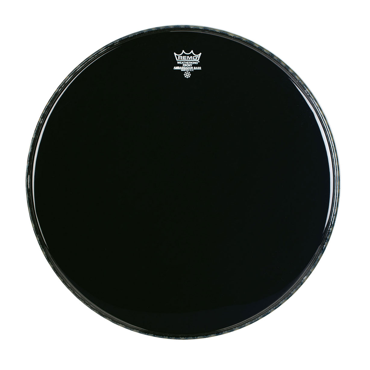 "Remo 26"" Ambassador Ebony Crimplock Marching Bass Drum Head"