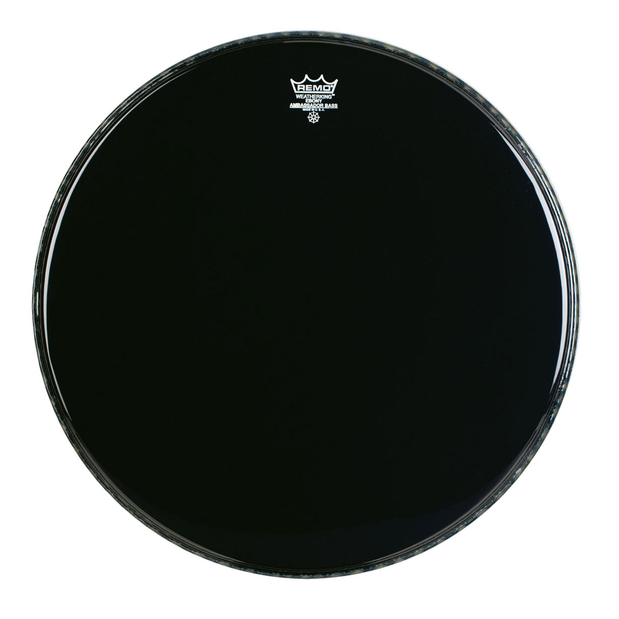 "Remo 30"" Ambassador Ebony Crimplock Marching Bass Drum Head"