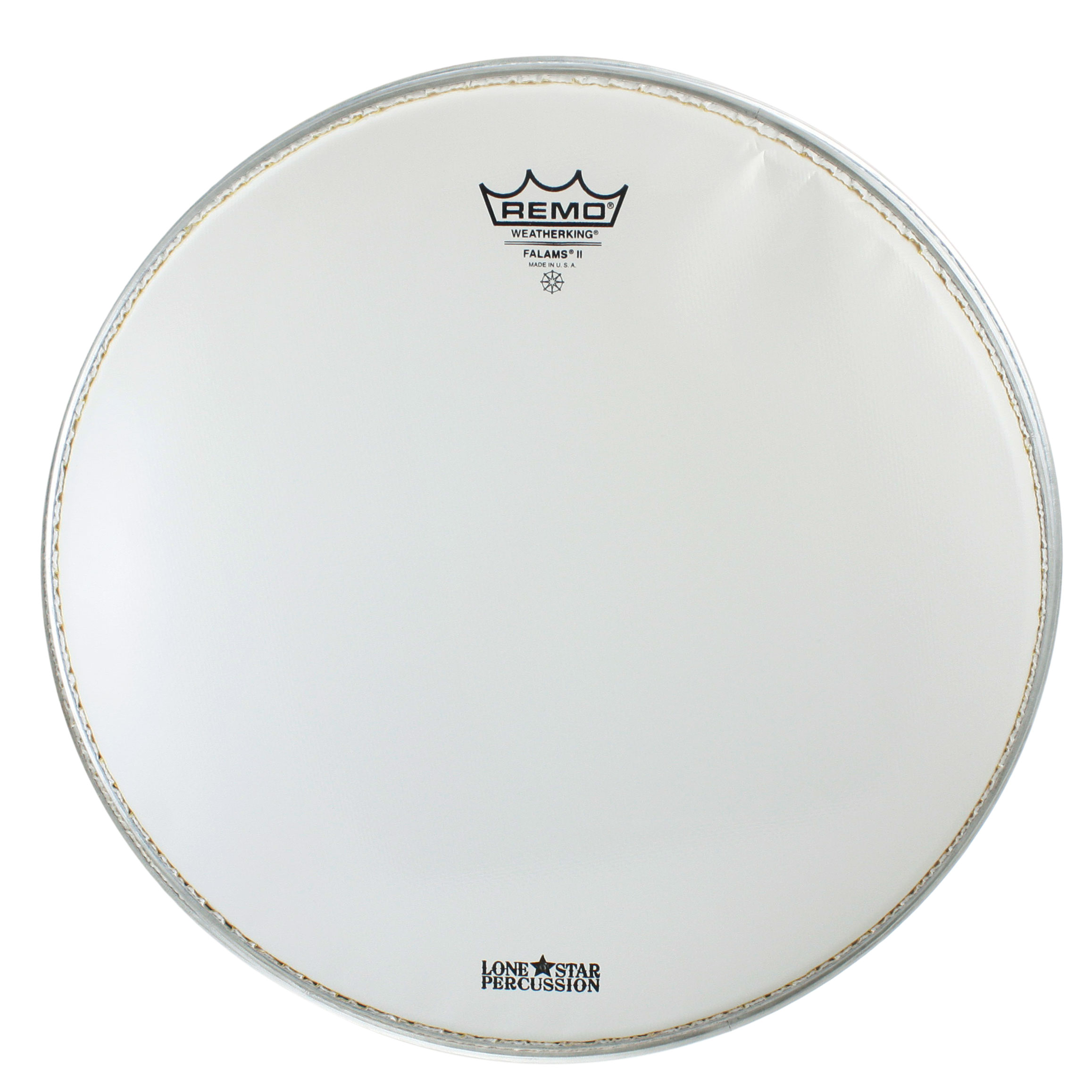 """Remo 14"""" Smooth White Falams Marching Snare Top Head"""