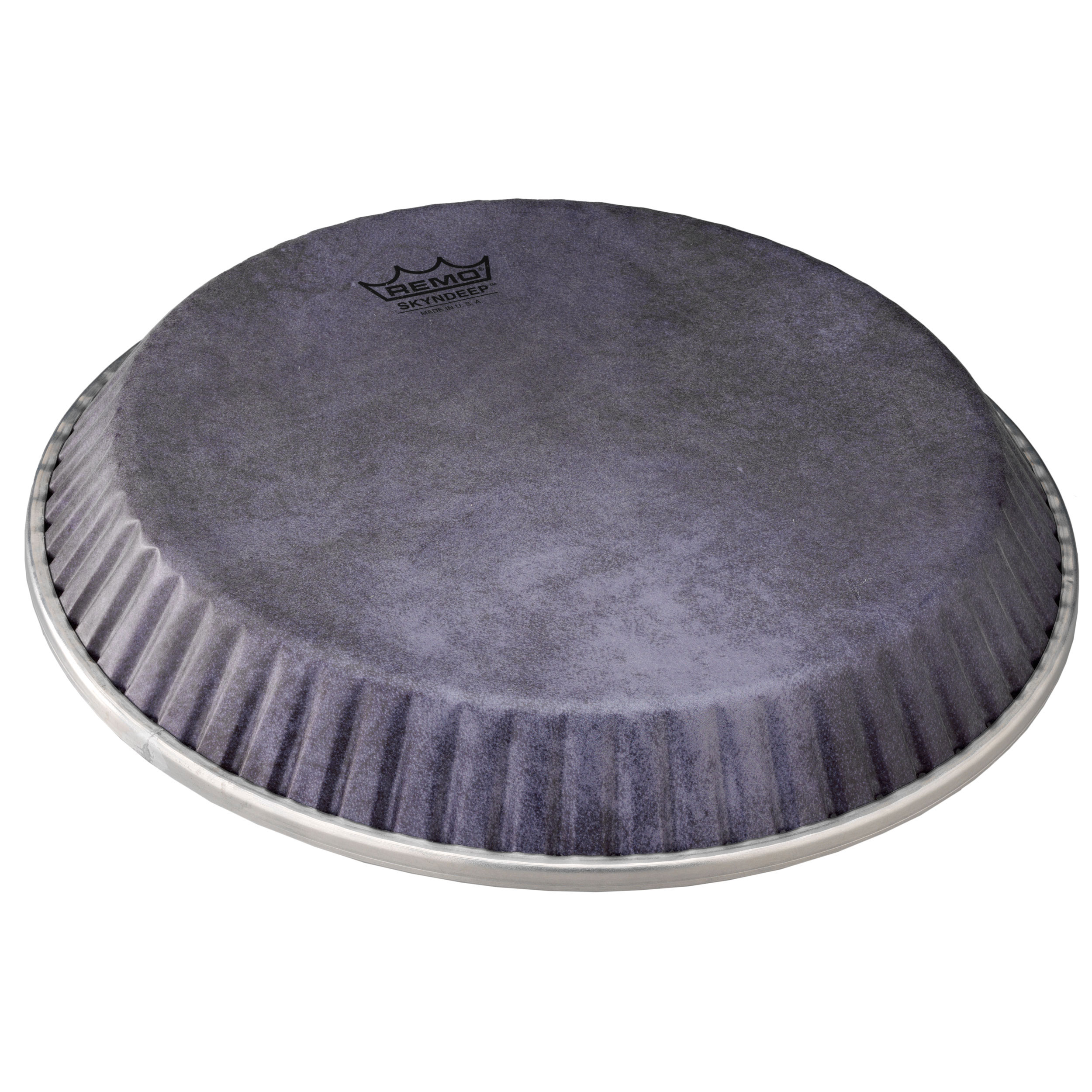 """Remo 12.5"""" Symmetry Skyndeep Conga Drum Head (D1 Collar) with Black Calfskin Graphic"""