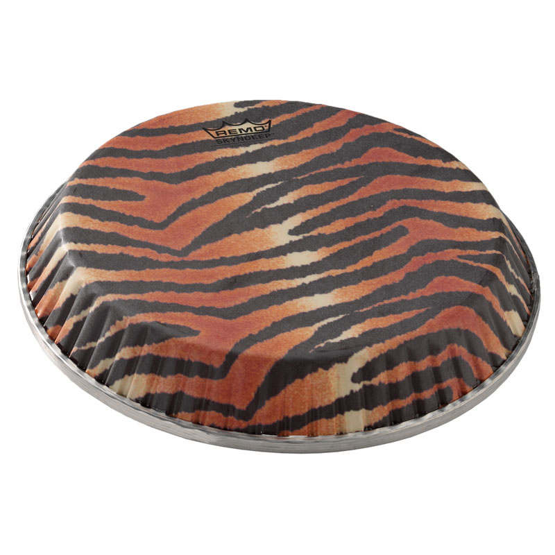 """Remo 9"""" R-Series Skyndeep Bongo Drum Head with Tiger Stripe Graphic"""