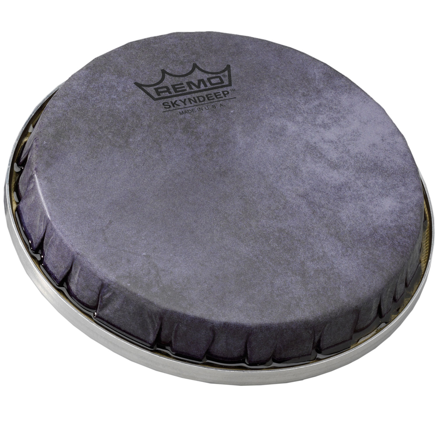 """Remo 8"""" S-Series Skyndeep Bongo Drum Head with Black Calfskin Graphic"""