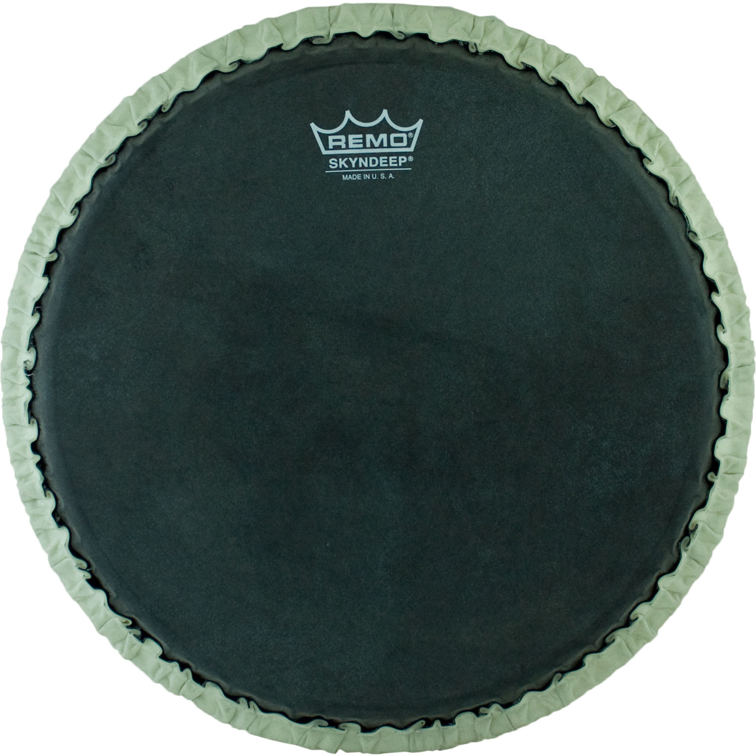 "Remo 11.75"" Tucked Skyndeep Conga Drum Head with Black Calfskin Graphic"
