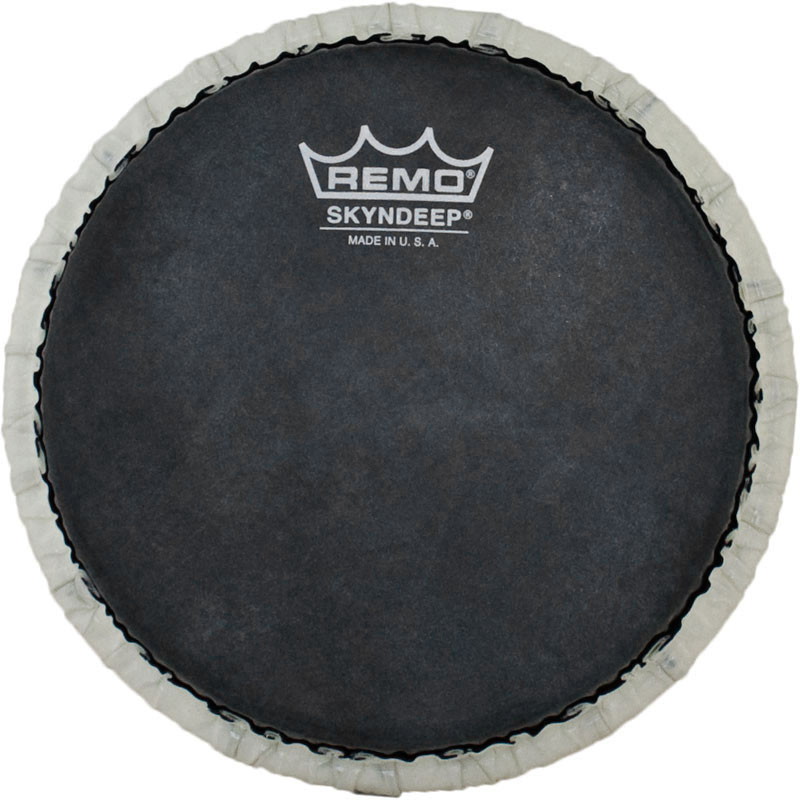 "Remo 9"" Tucked Skyndeep Bongo Drum Head with Black Calfskin Graphic"