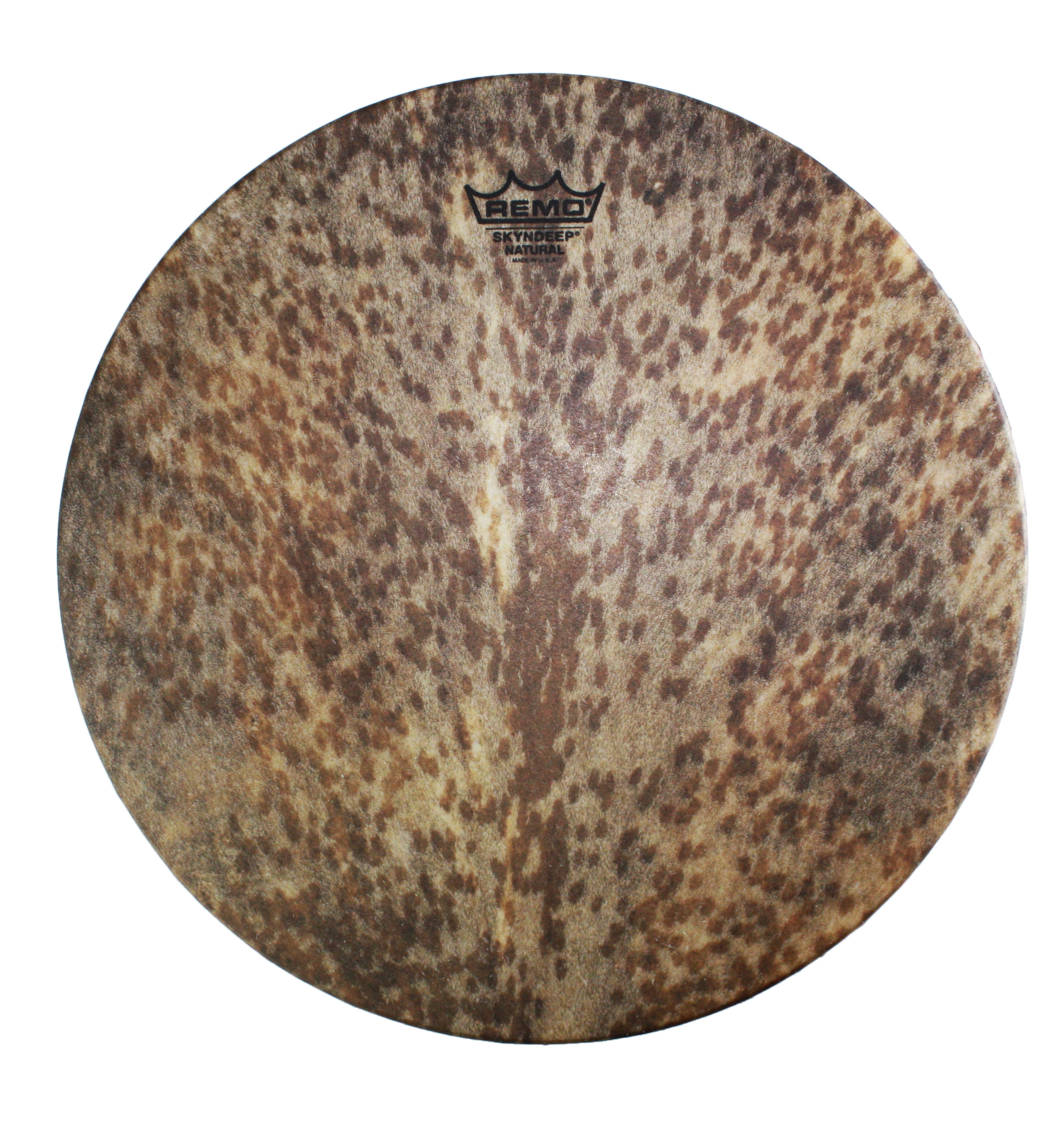 "Remo 14"" Mondo Skyndeep Djembe Drum Head with Goat Stripe Brown Graphic"