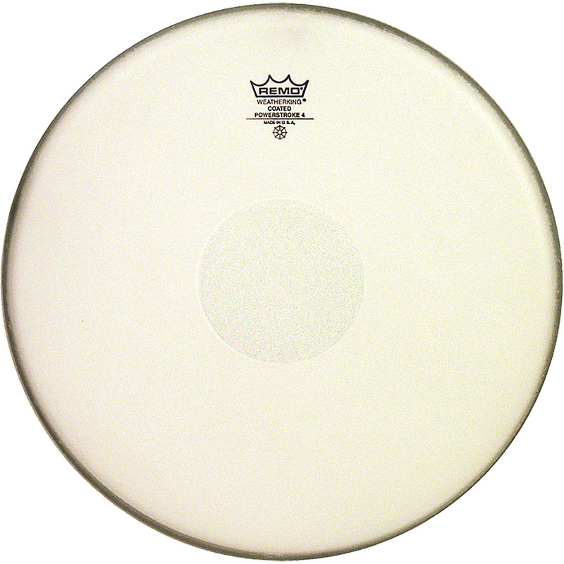 """Remo 14"""" Powerstroke P4 Coated Drum Head with Clear Dot"""