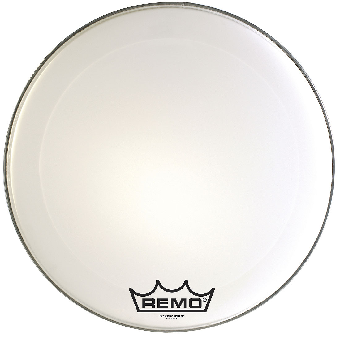 "Remo 24"" Powermax 2 Ultra White Crimplock Marching Bass Drum Head"