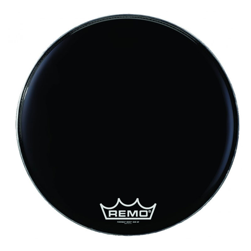 "Remo 16"" Powermax 2 Ebony Crimplock Marching Bass Drum Head"