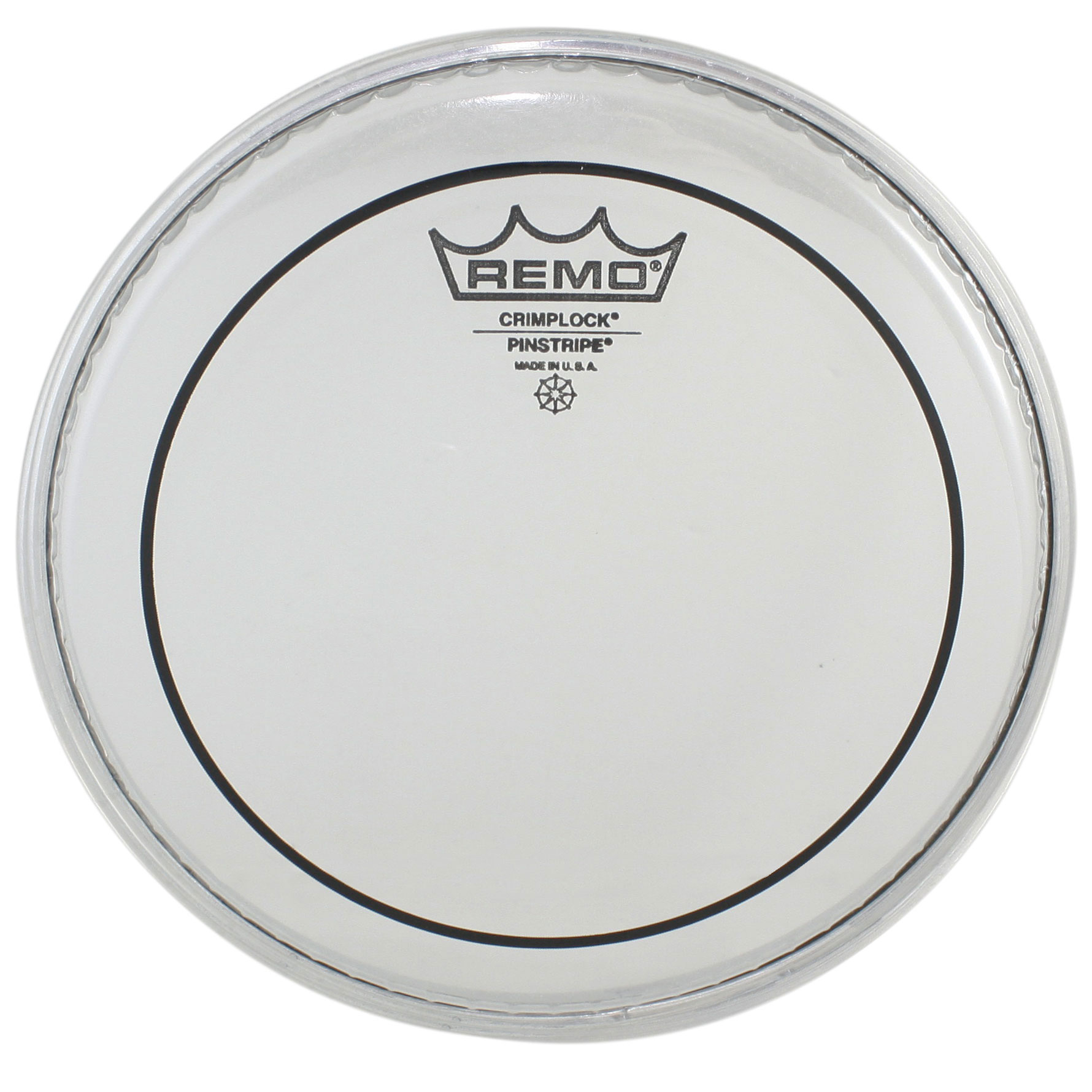 "Remo 8"" Pinstripe Clear Crimplock Marching Tenor Drum Head"