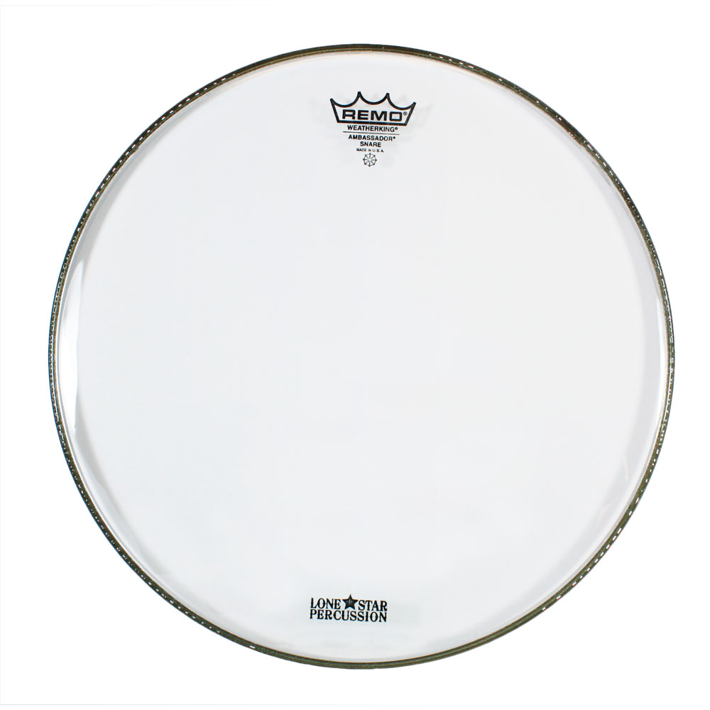 """Remo 14"""" Clear Ambassador Marching Snare Bottom Head"""