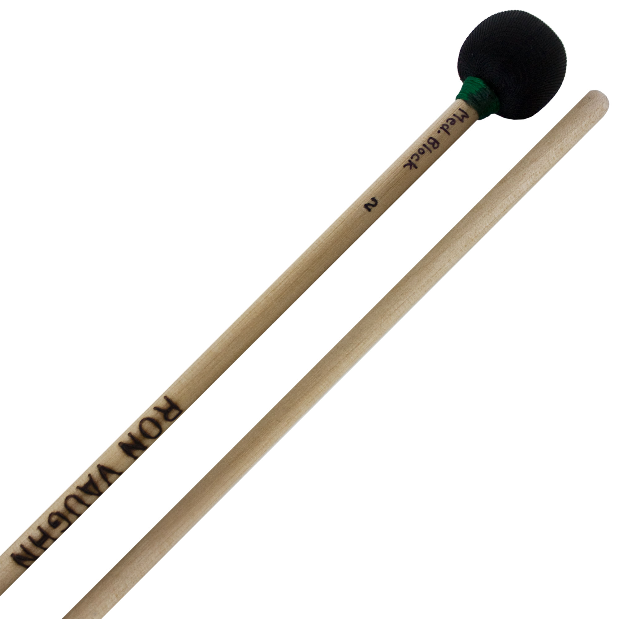 Ron Vaughn High Density Medium Wood Block Mallets with Birch Shafts
