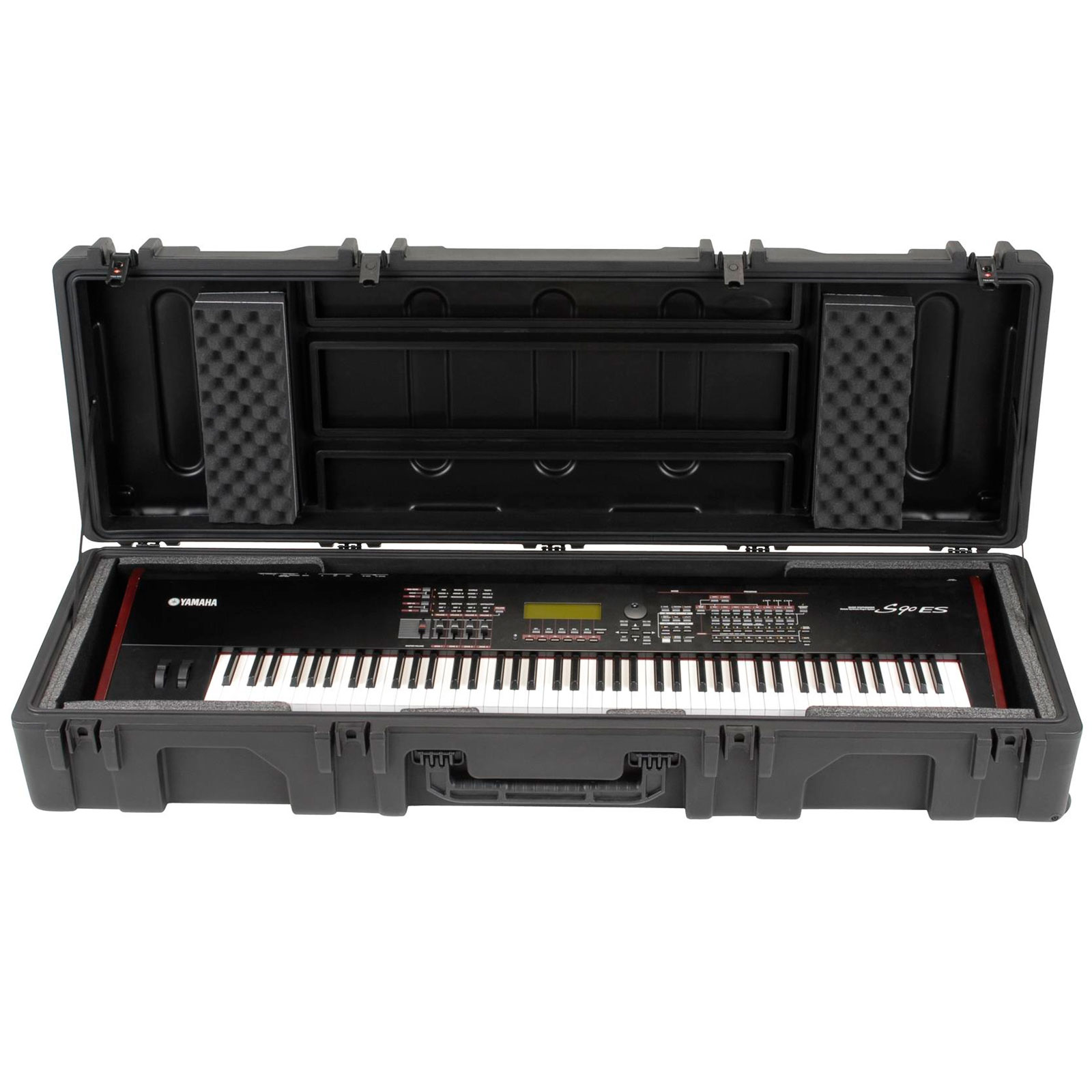skb 88 note narrow keyboard case with wheels for yamaha cp1 5 1r6218wy. Black Bedroom Furniture Sets. Home Design Ideas