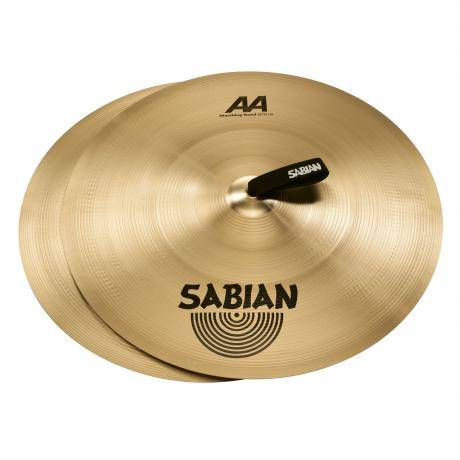 sabian 20 aa marching band hand cymbal pair 22022. Black Bedroom Furniture Sets. Home Design Ideas