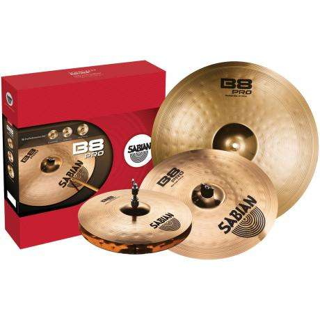 Sabian B8 Pro Performance Pack 3-Piece Cymbal Box Set (Hi Hats, Crash, Ride)